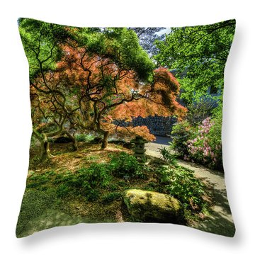 Japanese Maples In Spring Throw Pillow