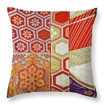 Japanese Patchwork Throw Pillow