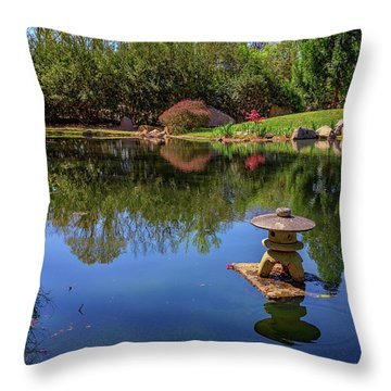 Japanese Reflections At Maymont Throw Pillow by Rick Berk