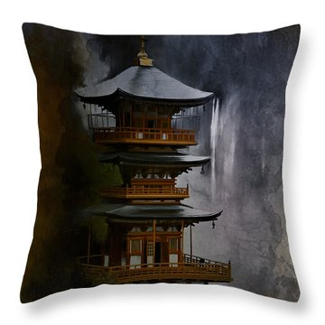 Japanese Temple. Throw Pillow
