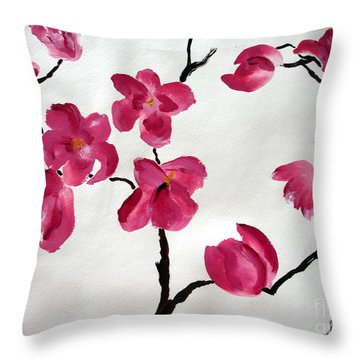 Japanese Tree Throw Pillow