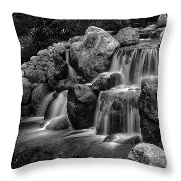 Japanese Waterfalls Throw Pillow