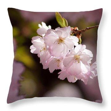 Japanese Wild Cherry Throw Pillow