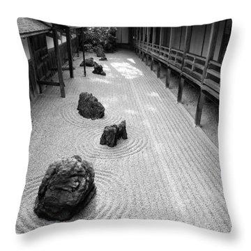 Japanese Zen Garden Throw Pillow