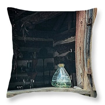 Throw Pillow featuring the photograph Jar In Window by Charles McKelroy