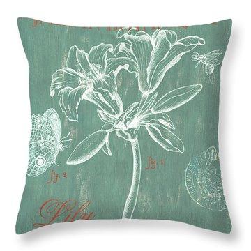 Jardin Botanique Aqua Throw Pillow
