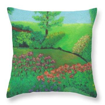 Jardin De Juillet Throw Pillow