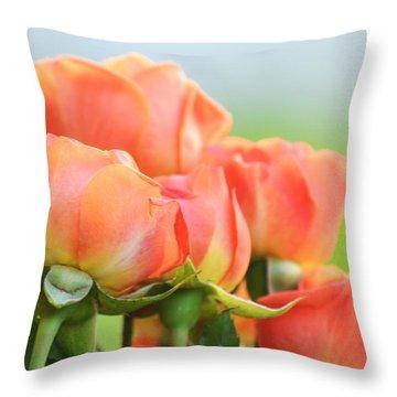 Jardin De Rosas Throw Pillow