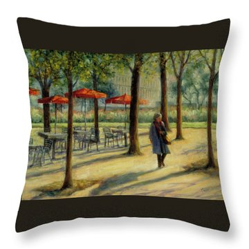 Jardin Des Tuileries In October Throw Pillow by Jill Musser