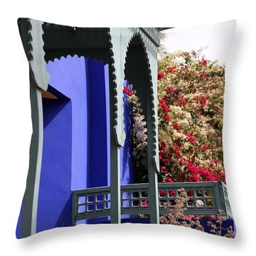 Throw Pillow featuring the photograph Jardin Majorelle 3 by Andrew Fare