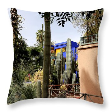Throw Pillow featuring the photograph Jardin Majorelle 4 by Andrew Fare
