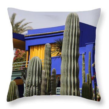 Throw Pillow featuring the photograph Jardin Majorelle 5 by Andrew Fare