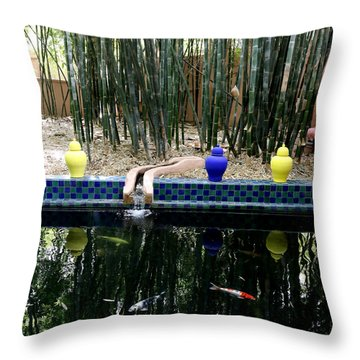 Throw Pillow featuring the photograph Jardin Majorelle by Andrew Fare