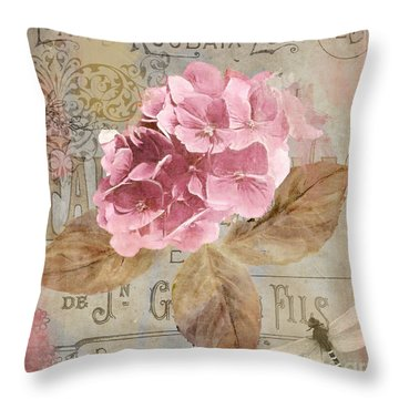 Jardin Rouge II Throw Pillow by Mindy Sommers