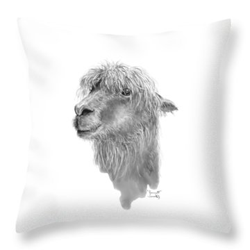 Throw Pillow featuring the drawing Jarrett by K Llamas