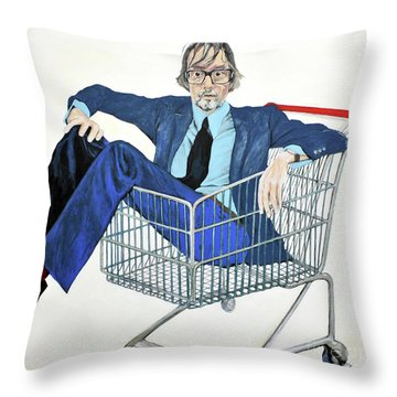 Jarvis Cocker 'off Yer Trolley' Throw Pillow