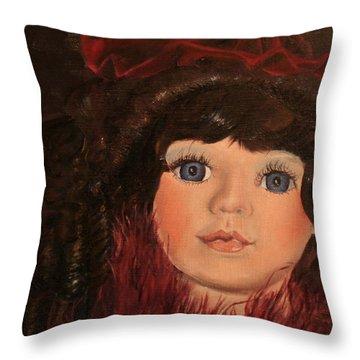 Jasmin Throw Pillow by Jane Autry