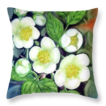 Jasmine Fantasy Throw Pillow
