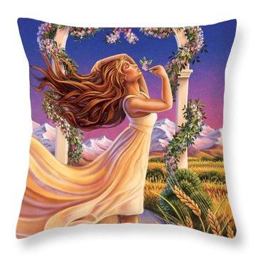 Jasmine - Sensual Pleasure Throw Pillow