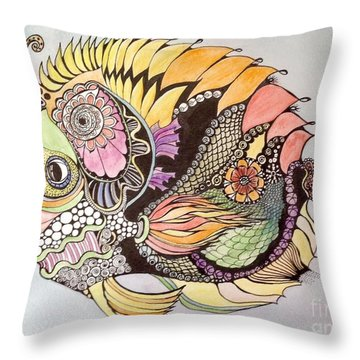Jasmine The Fish Throw Pillow