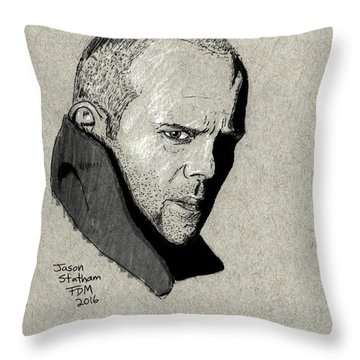 Jason Statham Throw Pillow