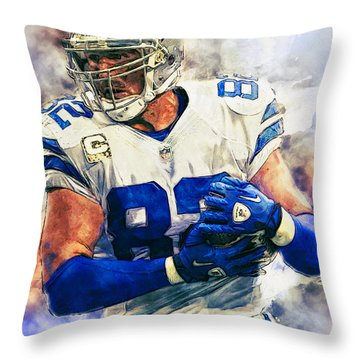 Jason Witten Throw Pillow by Taylan Apukovska