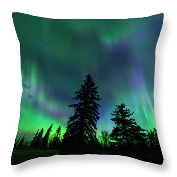 Jasper National Park Aurora Throw Pillow