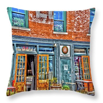 Java House Throw Pillow
