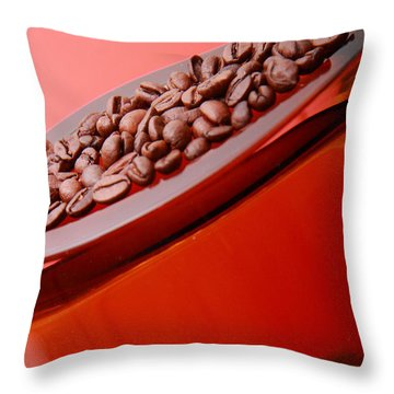 Java In Red Throw Pillow
