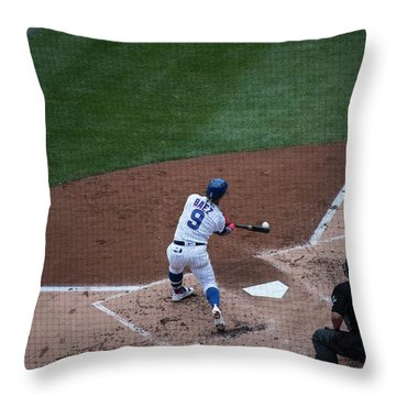 Javy Baez Throw Pillow by David Bearden