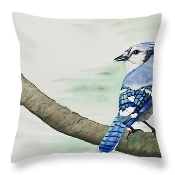 Jay In The Pine Throw Pillow
