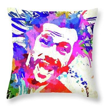 Jay Kay Jamiroquai Throw Pillow by Daniel Janda