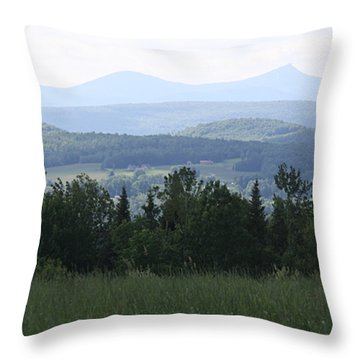 Jay Peak From Irasburg Throw Pillow