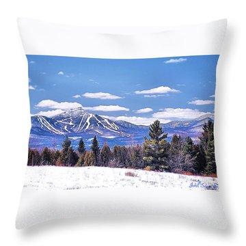 Jay Peak Throw Pillow