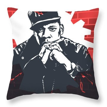Jay Z Graffiti Tribute Throw Pillow by Dan Sproul