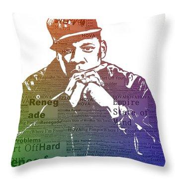 Jay Z Typography Throw Pillow