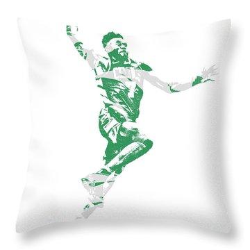 Jaylen Brown Boston Celtics Pixel Art 10 Throw Pillow
