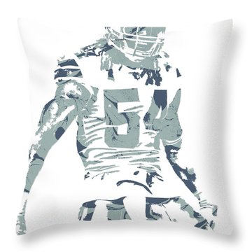 Jaylon Smith Dallas Cowboys Pixel Art Throw Pillow