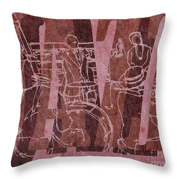 Jazz 31 Satchmo - Red Throw Pillow