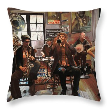 Jazz A 7 Throw Pillow