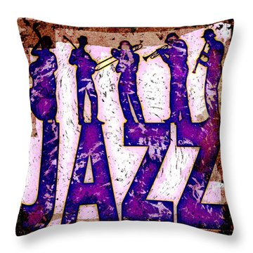 Jazz Abstract Throw Pillow by David G Paul