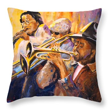 Jazz Throw Pillow