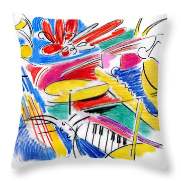 Jazz Art Throw Pillow
