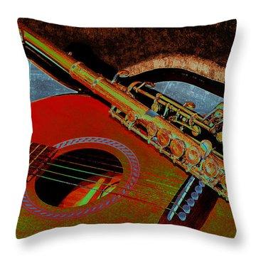 Jazz Band Throw Pillow by Lori Kingston