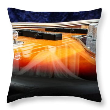 Jazz Bass Beauty Throw Pillow