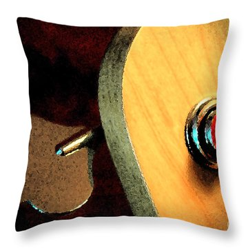 Jazz Bass Tuner Throw Pillow
