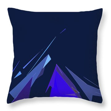 Throw Pillow featuring the digital art Jazz Campfire by Gina Harrison