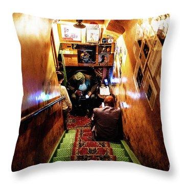 Jazz Club Throw Pillow