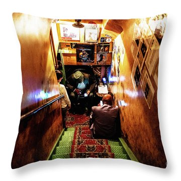 Jazz Club Throw Pillow