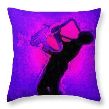 Jazz Festival Purple - Da Throw Pillow